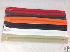Pack of 6 Multi Colour Zips, 280MM Dress Making Zips, Sewing.