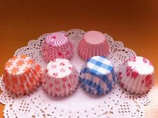 100 Pcs Paper Cake Cup Liners Baking Cupcake Cases Muffin Cake Colorful 8.5CM