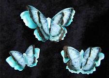 Printed, Die Cut Paper Butterflies Blue Morpho Design
