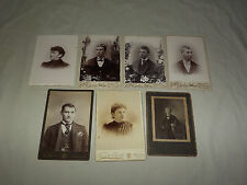 VINTAGE 1800S 7 PHOTOGRAPHY STUDIO PHOTOS TROY SCHENECTADY NY MASS ADVERTISING