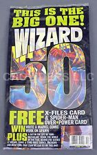 Wizard Magazine 50th Issue Extravaganza w/ X-Files & OverPower Cards & Comic NIP