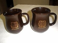 "Baileys Irish Creme Brown w/ Gold Celtic Knot Design 4"" Coffee Mug/Cup- LOT OF 2"