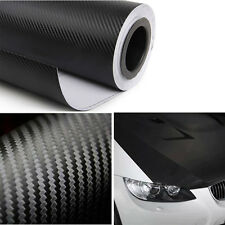 "20""X50"" 127cm*50cm  3M Carbon Fiber Black Vinyl Auto Car Wrap Roll Film Sticker"