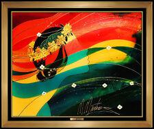 MARTIROS Manoukian ORIGINAL PAINTING Acrylic on Board Signed Female Signed Art