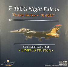 Witty WIngs 1/72 F-16CG Night Falcon Turkey Air Force 91-0011 Diecast 72010-031