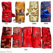 Wholesale 5 pcs Silk Brocade Travel Bag Jewelry Roll Pouch Purse Fashion Gift