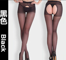 Women Sexy Fitness Open Crotch Crotchless Sheer Pantyhose Socks Stockings Tights
