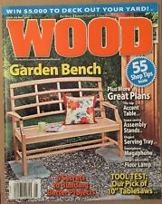 Wood Garden Bench Great Plans Tool Test Better Projects May 2014 FREE SHIPPING!