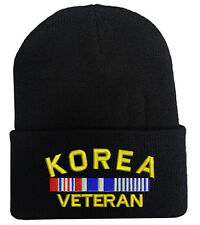 KOREA VETERAN FOLD LONG CUFF BEANIE HATS MILITARY LAW ENFORCEMENT