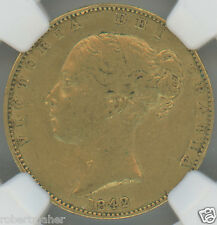 1842 Great Britain Sovereign Gold Coin NGC Graded XF40 MAKE ME AN OFFER!!!
