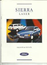 FORD SIERRA LASER SPECIAL EDITION SALOON AND ESTATE SALES BROCHURE 1989