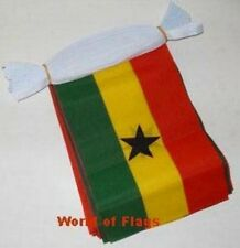 GHANA FLAG BUNTING Ghanaian 9m 30 Polyester Fabric Party Flags Africa African