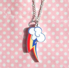 Rainbow Dash cutie mark My Little Pony Friendship Is Magic necklace MLP Brony