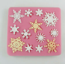 Snowflake Design Silicone Fondant Cake Mold Soap Mould Clay Useful Good ZXF