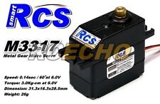 RCS Model M3317 26g RC Metal Gear High Torque R/C Hobby Micro Servo SS834