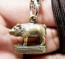MAGIC PIG LP PAEW WIN OBSTACLE VICTORY BATCH THAI REAL AMULET PENDANT LUCKY GIFT