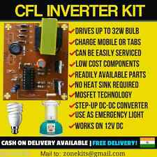 12VCFL Inverter/Emergency Light Circuit Kit | 5W-32W Bulb | Step-up DC Converter