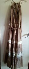 NEW PINK SODA BOUTIQUE LONG CAMEL BOHO DRESS size L