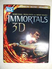 Immortals (Blu-ray Disc, 2012, 3-Disc Set, Digital Copy; 3D) W/Slipcover