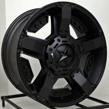 "20 Inch All Black Wheels Rims GMC Sierra Rockstar 2 XD811 20x9"" 8x180 Set of 4"