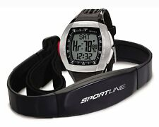 Sportline Duo Mens Dual Use Heart Rate Monitor 1025 SP1045BK Watch Black