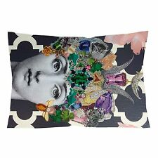 """FORNASETTI MOUTH LIPS QUEEN Zippered Pillow Case 16"""" X 24"""" - two sides cover"""