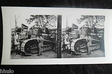 STA550 Tank renault stereoview Photo 1914 WW1 première guerre