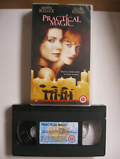 PRACTICAL MAGIC VHS VIDEO. EAN: 5014780136225. Cert.12. Kidman, Bullock, Quinn.