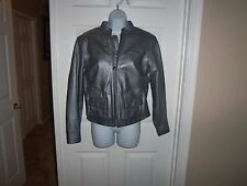 HARLEY DAVIDSON WOMENS SMALL SILVER LEATHER RIDING JACKET
