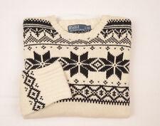 POLO RALPH LAUREN Mens Fair Isle Nordic Jumper Sweater Angora Cashmere knit £270