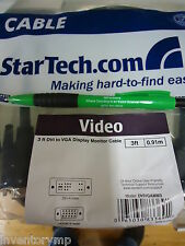 StarTech DVIVGAMM3 3 Feet M-M DVI to VGA Monitor Cable. Brand New! 18 Pieces!