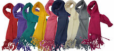 10x High Quality Viscose Plain Pashmina Scarf Shawl Hijab Stole Wrap- Pack of 10