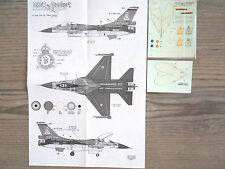 "F-16A  ""BELGIAN RED FALCON"" DACO PRODUCTS DECALS 1/72-48"