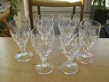 "Set of 6 Stuart Crystal Melrose Sherry Glasses -  4 3/8""(11cm)"