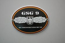 Emailleschild Blechschild Bundespolizei GSG 9 Bundesgrenzschutz  Spezialeinheit