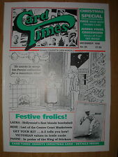 CARD TIMES MAGAZINE FORMERLY CIGARETTE CARD MONTHLY No 84 DECEMBER 1996