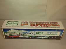 Hess Gasoline 1992 18 Wheeler and Racer Toy Truck New in Box HAULER 3A