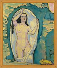 Venus in the Grotto Koloman Moser Mythologie Göttin Nackt Frauen B A1 02769