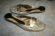 ENZO ANGIOLINI JAEMARIE SLIDES CLOGS WOMENS SHOES SIZE 7.5 M GOLD BROCADE