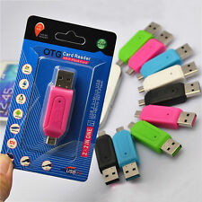 Fashion Style 2-in-1 SD+Micro SD/T-Flash Memory Card Reader to USB 2.0 Adapter