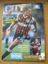 28/01/1995 Manchester City v Aston Villa [FA Cup] (Creased, Worn, Team Changes).
