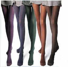 New Women Hosiery Stretch See Through Fishnet Tights Long Sock Seamless-Blue