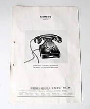 PUBBLICITA' SIEMENS APPARECCHIO TELEFONICO AUTOMATICO DA TAVOLO