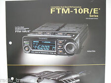 YAESU FTM-10R/E (GENUINE BROCHURE ONLY)............RADIO_TRADER_IRELAND.