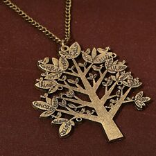 unique The dove tree words printting punk style antique bronze chain necklace