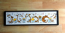 """Calvin and Hobbes Pajama Dancing Mounted Picture 5 x 18"""""""