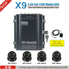 720P 4 Channel H.264 Car DVR Kit and Vehicle Video Recorder DVR With GPS AHD CAM