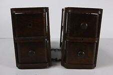 4 Antique Oak Treadle Sewing Machine Cabinet Drawers In Frames Left Rt Hooks