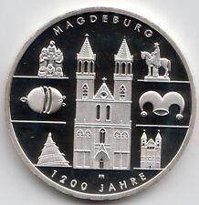 10 Euro Gedenkmünze 1.200 Jahre Magdeburg 2005 Polierte Platte Silber 925/-