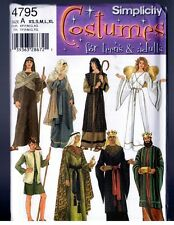 Simplicity 4795 Bible Characters Nativity Costumes PATTERN Adult XS-S-M-L-XL